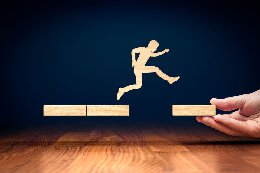 Coach motivate to personal development and jump to the new era